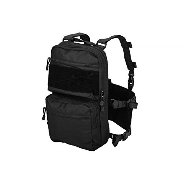 Lancer Tactical Airsoft Tactical Vest 1 Lancer Tactical 1000D Nylon QD Chest Rig and Backpack Combo Black