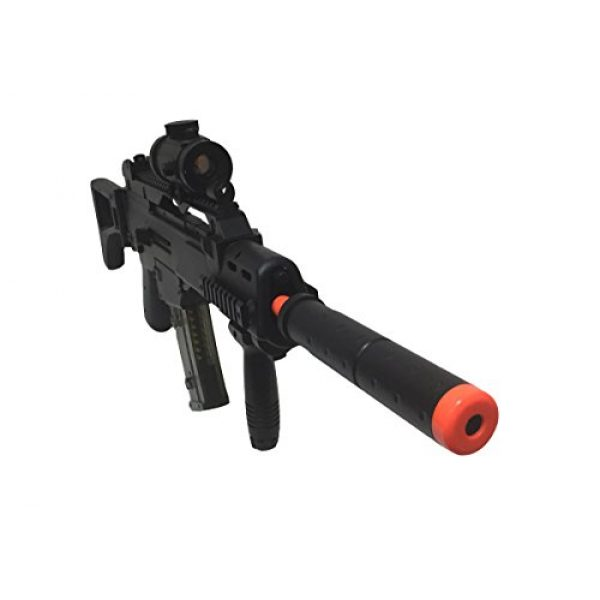 Double Eagle Airsoft Rifle 3 JustAirsoftUSA M85 Electric Rifle Airsoft Gun w/ accessories