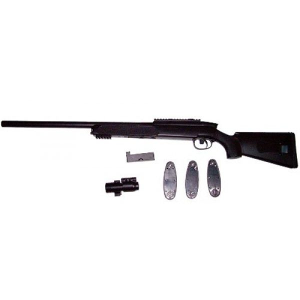 Double Eagle Airsoft Rifle 3 Double Eagle m50p Bolt Action Spring Airsoft M50 Sniper Rifle FPS 450 Airsoft Gun, Black