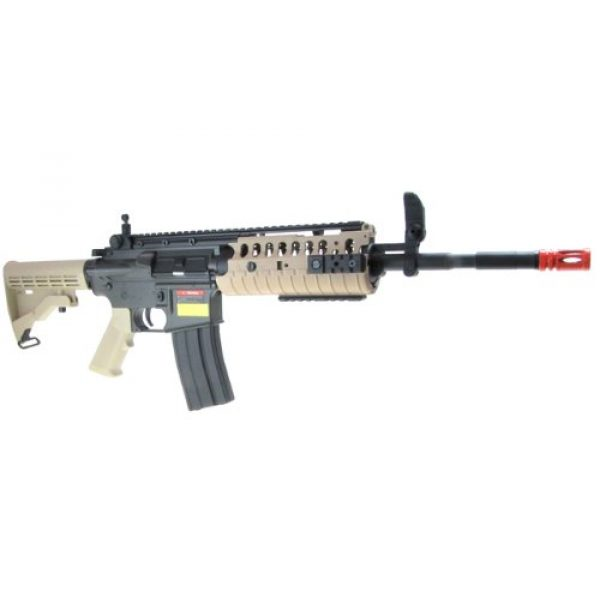 Jing Gong (JG) Airsoft Rifle 3 JG airsoft m4 s-system full metal gearbox desert tan aeg rifle w/ integrated ris and high performance tight bore barrel - newest enhanced model(Airsoft Gun)