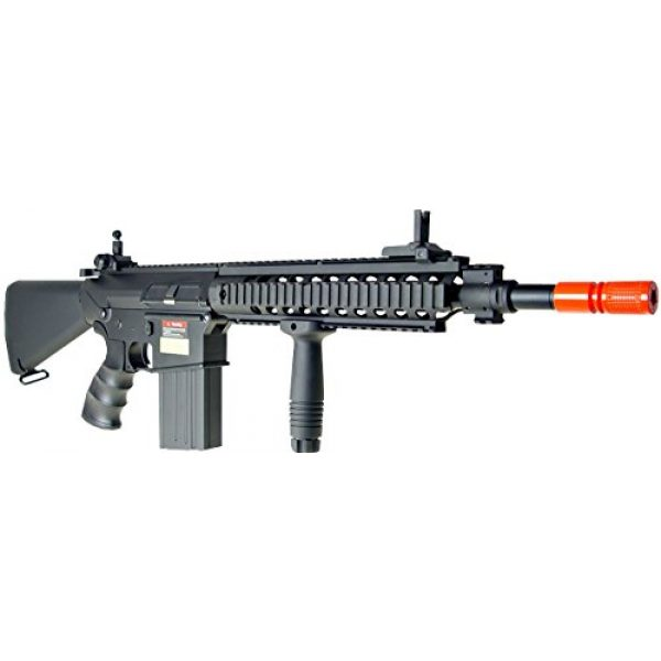 Jing Gong (JG) Airsoft Rifle 3 JG aeg-full metalsr25 full stock nicads/charger included-metal g-bx(Airsoft Gun)
