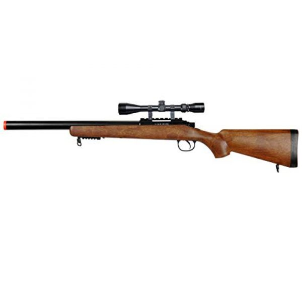 Well Airsoft Rifle 1 Well MB02 Airsoft Sniper Rifle W/Scope - Wood