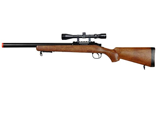 Well  1 Well MB02 Airsoft Sniper Rifle W/Scope - Wood