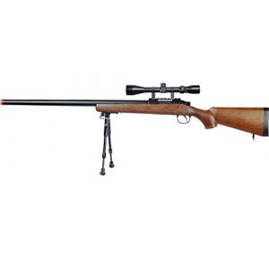 Well Airsoft Rifle 1 Well MB03 Airsoft Sniper Rifle W/Scope and Bipod - Wood