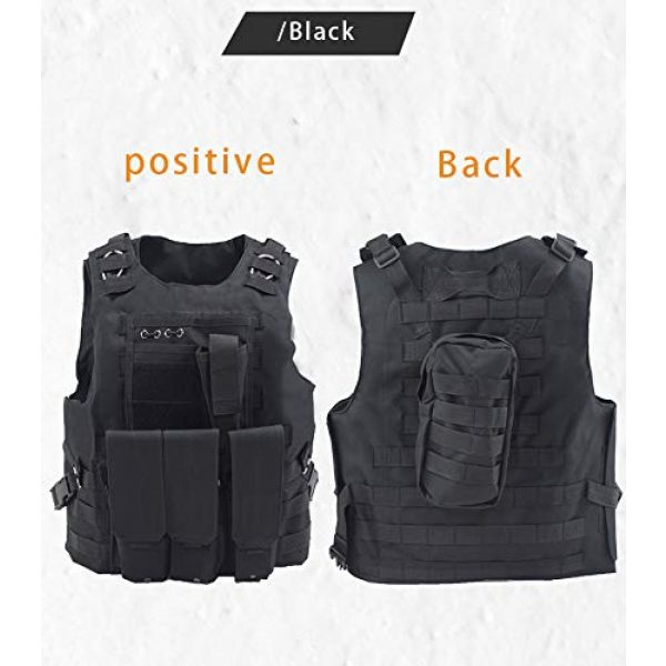 BGJ Airsoft Tactical Vest 2 Tactical Vest Airsoft Military Amphibious Camouflage Combat Vest Outdoor Hunting Army Body Armor Shooting CS Protection Vests