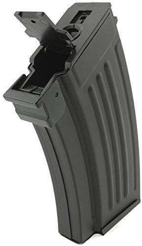 SportPro  3 SportPro CYMA 220 Round Metal Stubby High Capacity Magazine for AEG AK47 AK74 3 Pack Airsoft - Black