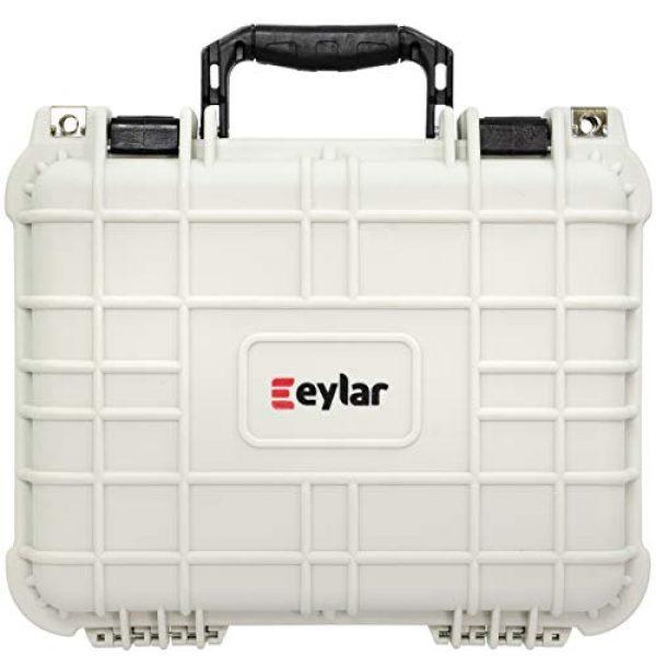 Eylar Pistol Case 3 Eylar Tactical Hard Gun Case Water & Shock Proof with Foam TSA Approved 13.37 Inch 11.62 Inch 6 Inch Storm White