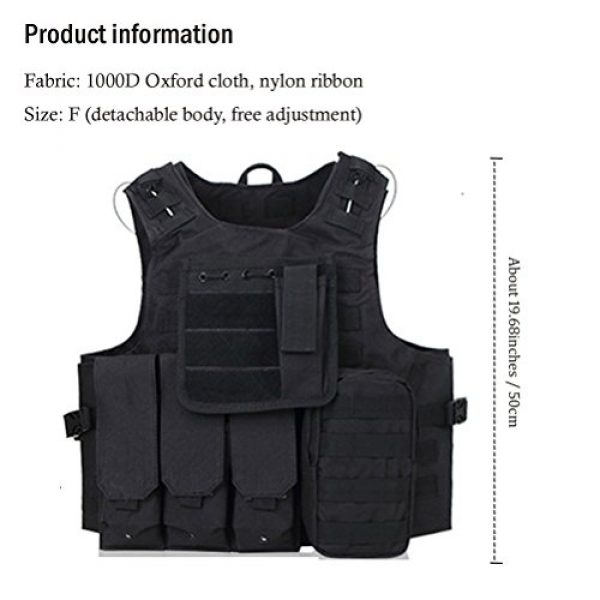 Zhuhaitf Airsoft Tactical Vest 4 Zhuhaitf Hunting Tactical Airsoft Oxford Molle Vest Tactical Gear Adjustable Vest