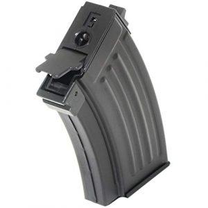 Airsoft Gang Airsoft Gun Magazine 1 Airsoft Parts 230rd Mag Short Type Hi-Cap Magazine for AK-Series AEG Black