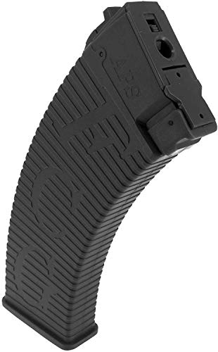 SportPro  2 SportPro APS 500 Round Polymer Thermold Waffle High Capacity Magazine for AEG AK47 AK74 Airsoft 6 Pack - Black