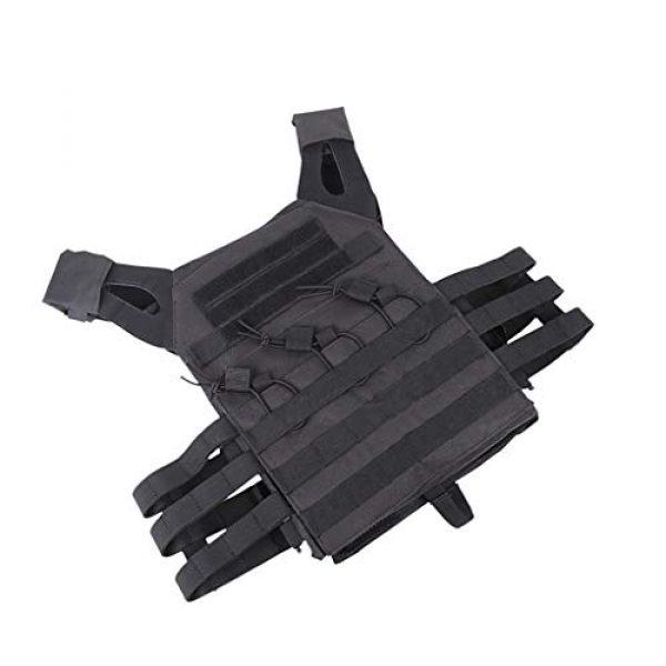 Jipemtra Airsoft Tactical Vest 7 Jipemtra Tactical Airsoft Vest for Kids Outdoor Molle Breathable JPC Vest Game Protective Vest Adjustable Modular Chest Set Vest CS Field Vest Training Vest (Black #1)