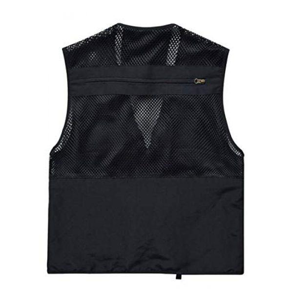 DAFREW Airsoft Tactical Vest 2 DAFREW Men's Vest Spring and Autumn Vest Multi-Pocket Convenient Vest Outdoor Fishing Vest (Color : Black, Size : XL)