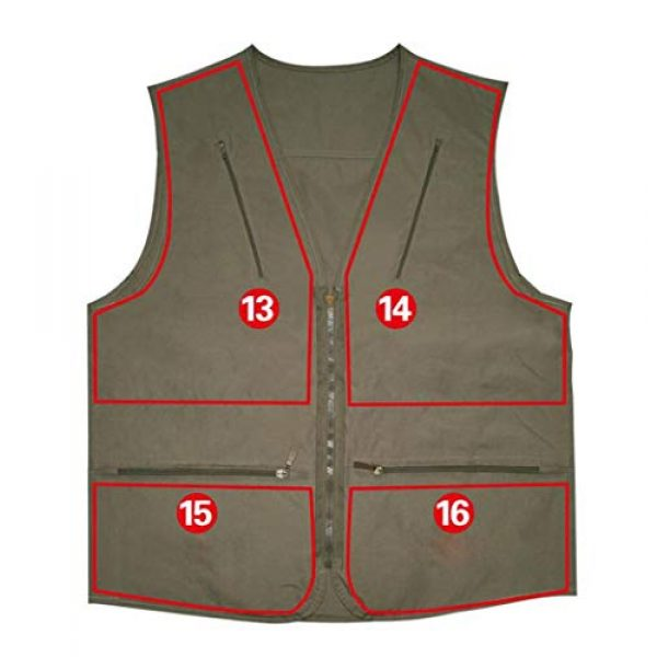 DAFREW Airsoft Tactical Vest 5 DAFREW Men's Vest Spring and Autumn Outdoor Vest Fishing Vest Cotton Custom Multi-Pocket Vest (Color : Deep Khaki, Size : L)