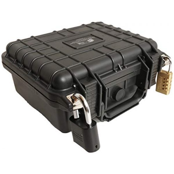 Case Club Pistol Case 6 Case Club Glock 19 & 4 Magazine Pre-Cut Heavy Duty Waterproof Case (Accommodates Optics, Under Barrel attachments & Speed Loader)