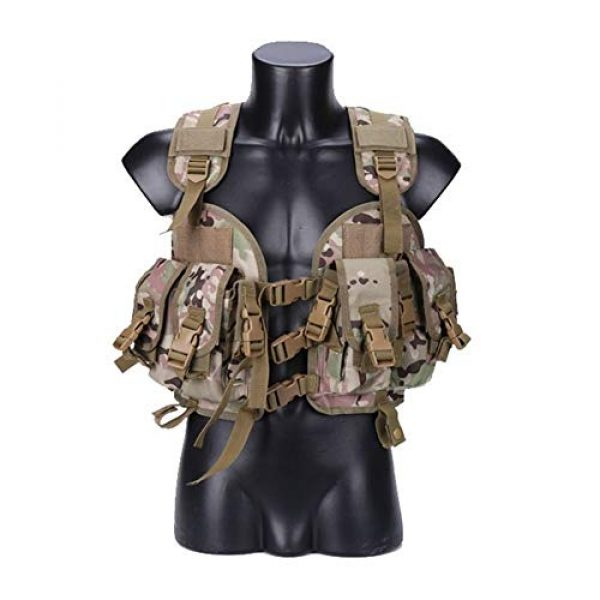 Shefure Airsoft Tactical Vest 3 Shefure The Seal Men Tactical Hunting Armor Vest Combat CS Wargame Military Camouflage Waterproof Water Bag Pouches Tactical Gear