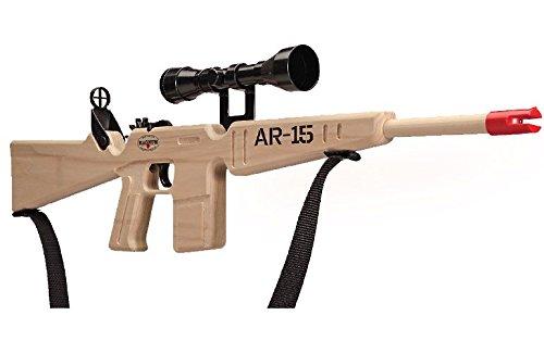 Magnum Enterprises  1 Magnum Enterprises Wooden AR-15 Rifle with Scope and Sling