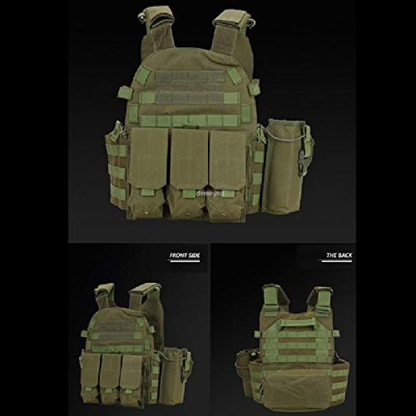 BGJ Airsoft Tactical Vest 4 Tactical Molle Vest Nylon Body Armor Hunting Plate Carrier Airsoft Paintball Vest with Magazine Pouch CS Game Combat Gear