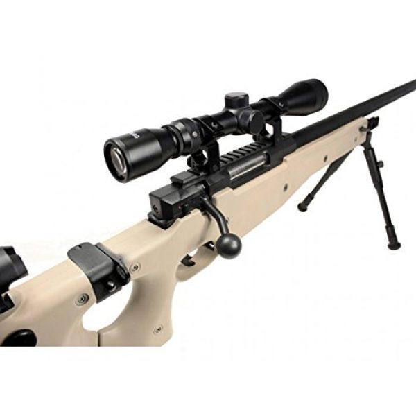 Well Airsoft Rifle 4 Well mb08d l96 spring airsoft gun metal sniper fps-450 w/ 3-9x40 scope & bipod (tan)(Airsoft Gun)