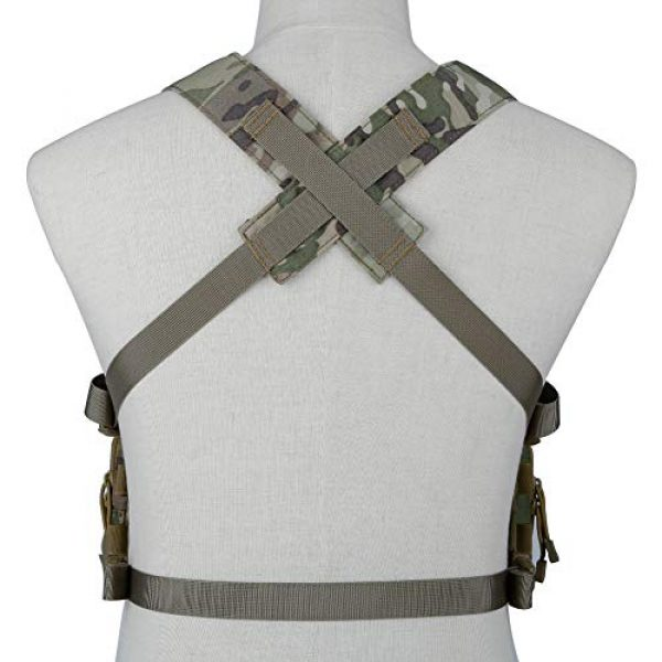 DETECH Airsoft Tactical Vest 7 DETECH Tactical Vest Airsoft Ammo Chest Rig Magazine Carrier with Molle FlatPack Assault Pack Backpack