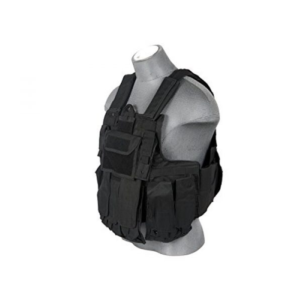 Lancer Tactical Airsoft Tactical Vest 2 LT 303B MOLLE PALS Military Training Hunting Gaming Vest with Web Modular System Black Fit Small Medium Large Sizes