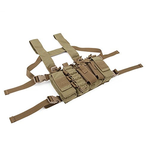 DETECH Airsoft Tactical Vest 6 DETECH Tactical Chest Rig Combat Recon Gear Vest with Magazine Pouch for Airsoft Hunting Games