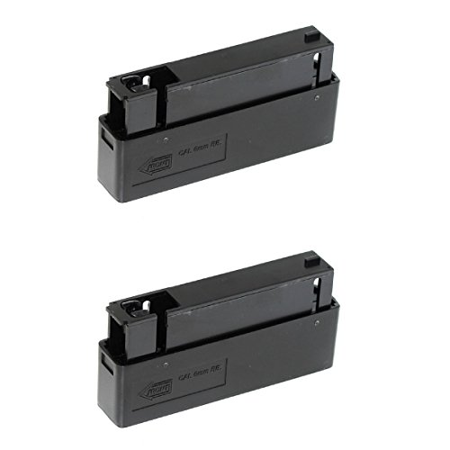 Airsoft Shopping Mall  1 Airsoft Shooting Gear 2pcs 25rd Mag Magazine For MB01 MB04 MB05 L96 Bolt Action Sniper Rifle