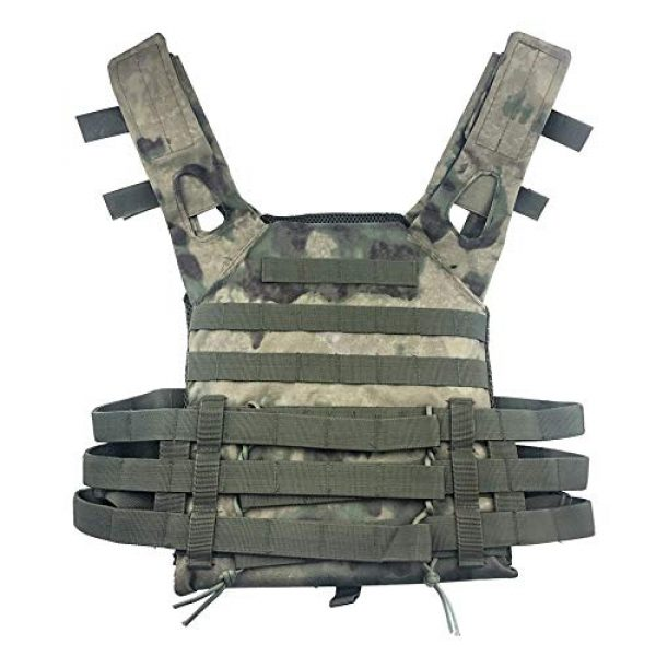 BGJ Airsoft Tactical Vest 6 BGJ Men Hunting Tactical Vest Military Molle Plate Carrier Magazine Airsoft Paintball CS Outdoor Protective Lightweight Vest