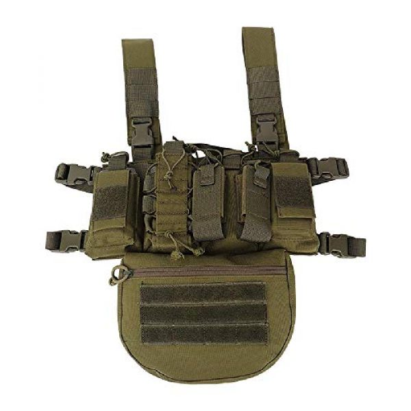 BGJ Airsoft Tactical Vest 2 Outdoor Tactical Vest Military Airsoft Shooting Combat Chest Rig Army Battle Nylon Molle Vest Bag Hunting CS Match Waist Pack