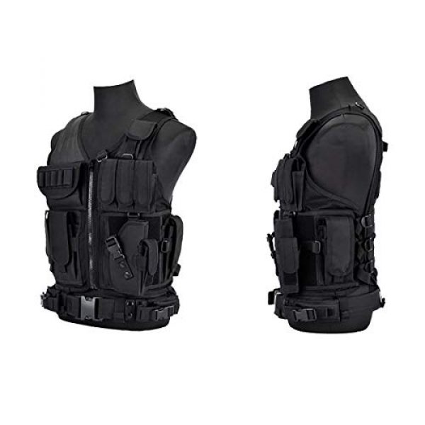 KIDYBELL Airsoft Tactical Vest 3 KIDYBELL Tactical Airsoft Vest for Outdoor Hunting Army Fan Combat Training CS Game 600D encrypted Nylon Fabric