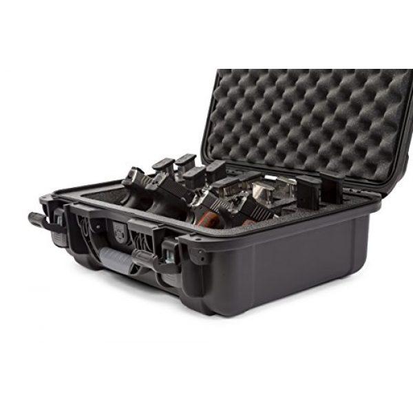 Nanuk Pistol Case 4 Nanuk 925 Waterproof Professional Gun Case, Military Approved with Custom Foam Insert for 4UP