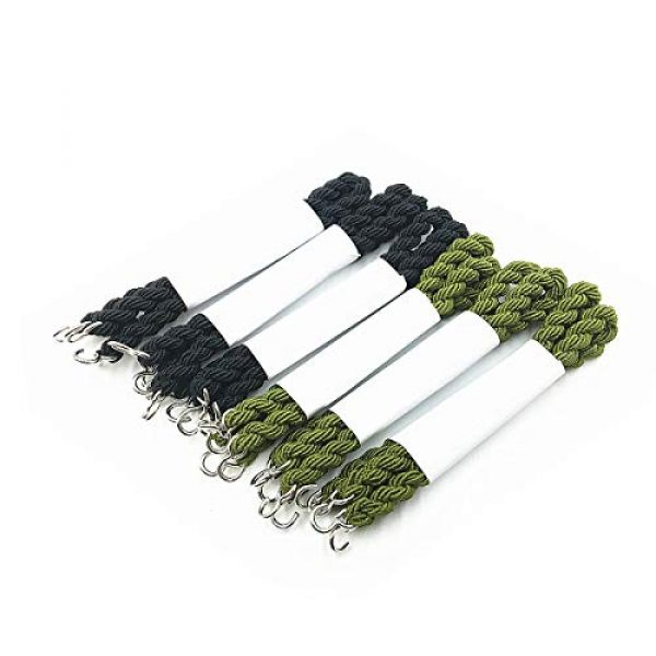 HDCBMCDDM-US Combat Boot Blouser 6 12 Pieces Elastic Boot Bands Military Boot Straps with Metal Hooks for Navy Army Air Force, Black& Green