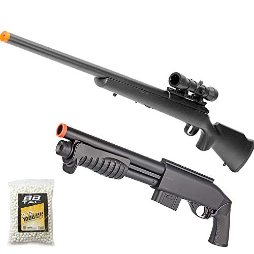 BBTac  1 BBTac Airsoft Gun Package - American Sniper - Powerful Spring Sniper Rifle