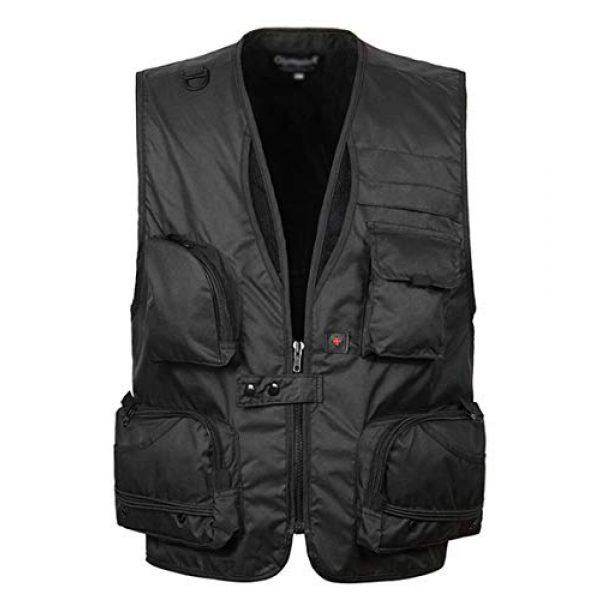 DAFREW Airsoft Tactical Vest 1 DAFREW Men's Vest Quick-Drying mesh Breathable Vest Multi-Pocket Vest Outdoor Leisure Photography Vest (Color : Black2, Size : M)