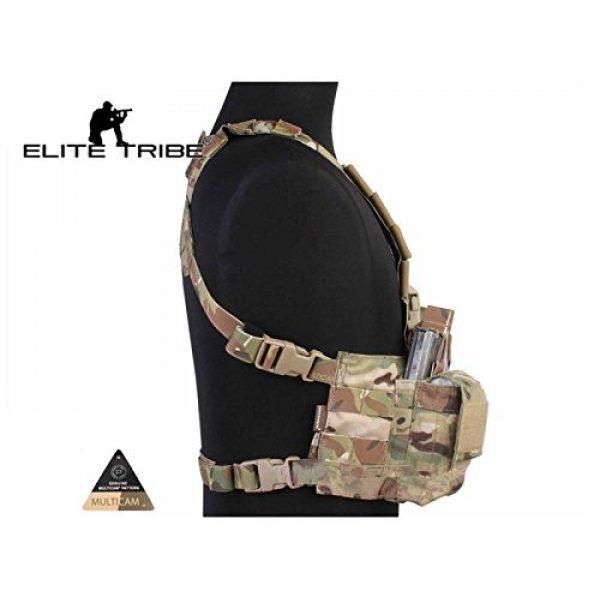 Elite Tribe Airsoft Tactical Vest 3 Tactical Vest Easy Chest Rig Military Carrier Vest Multicam