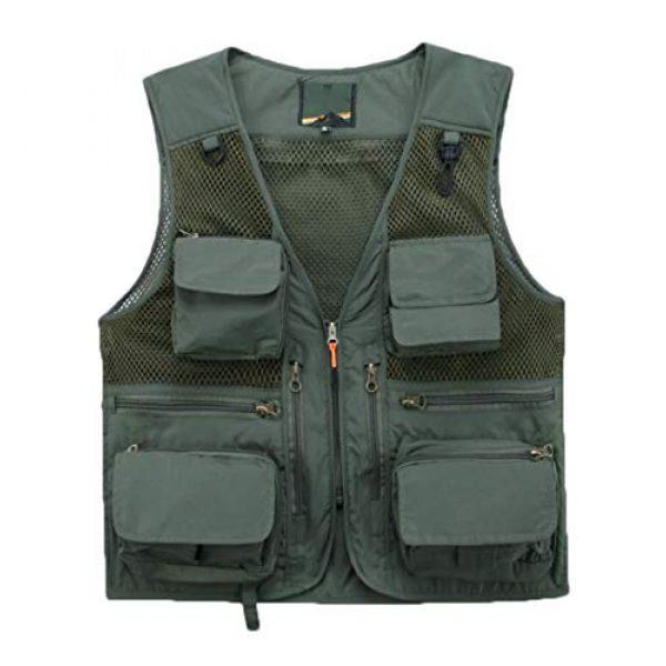 DAFREW Airsoft Tactical Vest 1 DAFREW Casual Vest Multi-Pocket Quick-Drying Vest mesh Breathable Vest Outdoor Leisure Fishing Photography Vest (Color : Green, Size : L)
