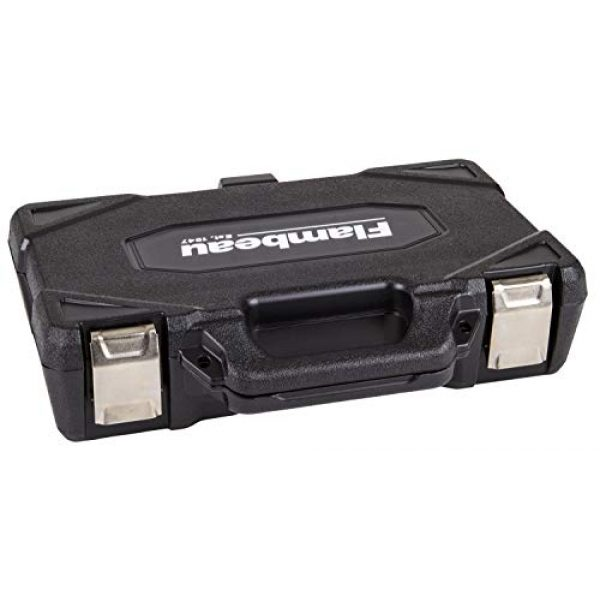 "Flambeau Outdoors Pistol Case 2 Flambeau Outdoors 35DWS Safe Shot Double Wall Single Pistol Case 12"", Portable Firearm Storage Accessory, Black"