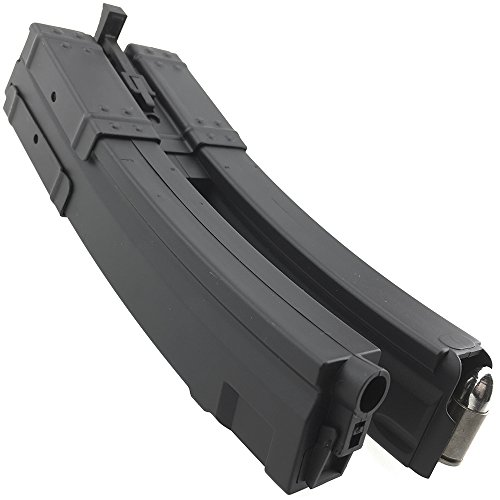 SportPro  6 SportPro 560 Round Polymer Double High Capacity Magazine for AEG MP5 Airsoft - Black