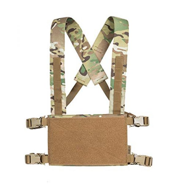 OneTigris Airsoft Tactical Vest 1 OneTigris Chest Rig Tactical Panel Placard Adapter (Multicam)
