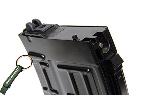 WE  2 WE 21rds Airsoft Gas Magazine For SVD ACE-VD Series GBB Black -Mobile Ring Included