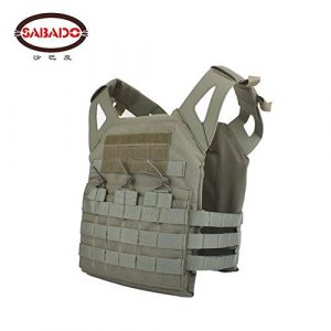 Shefure Airsoft Tactical Vest 7 Shefure Cardura Rip-Stop Military Tactical Combat Vests,Outdoor Hunting Waistcoats Anti-stab Thickening Paintball Vest