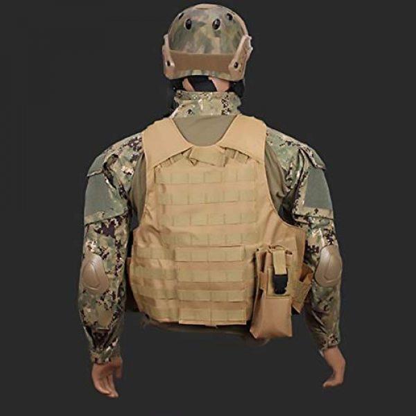 WEQ Airsoft Tactical Vest 7 WEQ Tactical Molle Airsoft Vest Paintball Combat Training Vest Adjustable (Color : Beige)