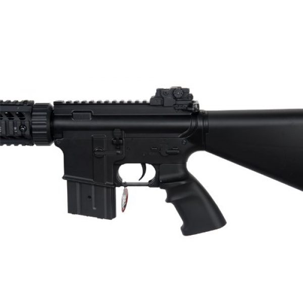 MetalTac Airsoft Rifle 5 MetalTac Electric Airsoft Gun M4 Stubby CQB JG-F6625 with Metal Gearbox Version 2, Full Auto AEG, Upgraded Powerful Spring 380 Fps with .20g BBS