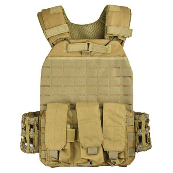 JFFCE Airsoft Tactical Vest 1 JFFCE Tactical Vest Fully Adjustable for Shooting Hunting Outdoor Activities
