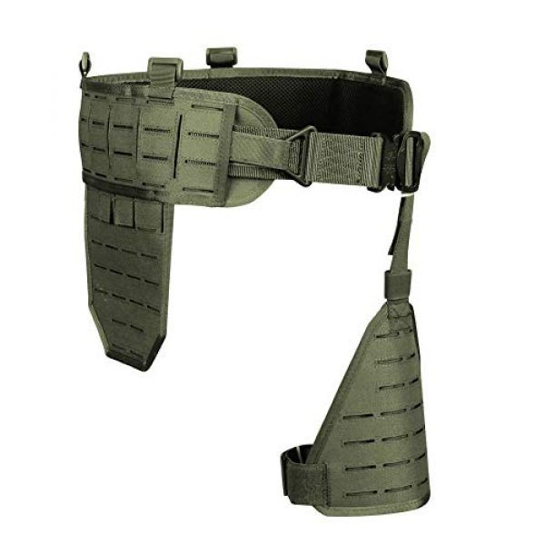 OAREA Airsoft Tactical Vest 1 OAREA MOLLE Tactical Belt Men's Army 1000D Nylon Ultra-Wide Tactical Quick Release Breathable Multi-Functional Belt Adjustable Soft Padded