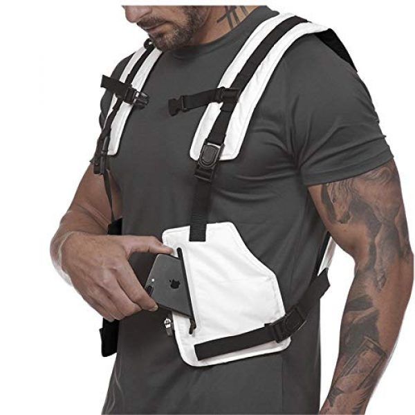 Armiya Airsoft Tactical Vest 5 Mens Molle Tactical Military Chest Rig Law Enforcement Work Reflective Vest Combat Condor Security Training Tool Pouch for Outdoor Paintball CS Game Airsoft Climbing Hiking (White)