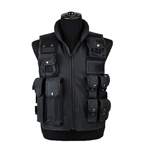 Sutekus Airsoft Tactical Vest 1 Sutekus Tactical Vest for Outdoor Paintball Airsoft Game Combat Training & Costume