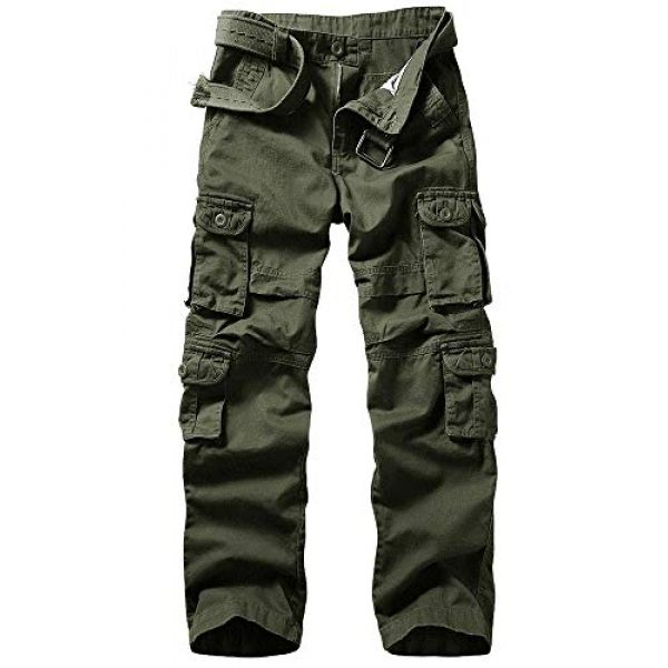 TRGPSG Tactical Pant 1 Men's Outdoor Hiking Pants Multi-Pocket Military Tactical Work Cargo Pants Casual Relaxed Fit Trousers