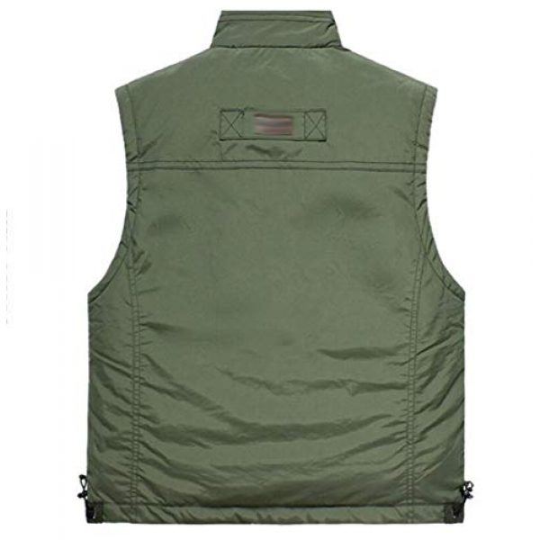 DAFREW Airsoft Tactical Vest 2 DAFREW Breathable Vest Middle-Aged mesh Vest Multi-Pocket Outdoor Leisure Fishing Thin Vest (Color : Army Green, Size : M)