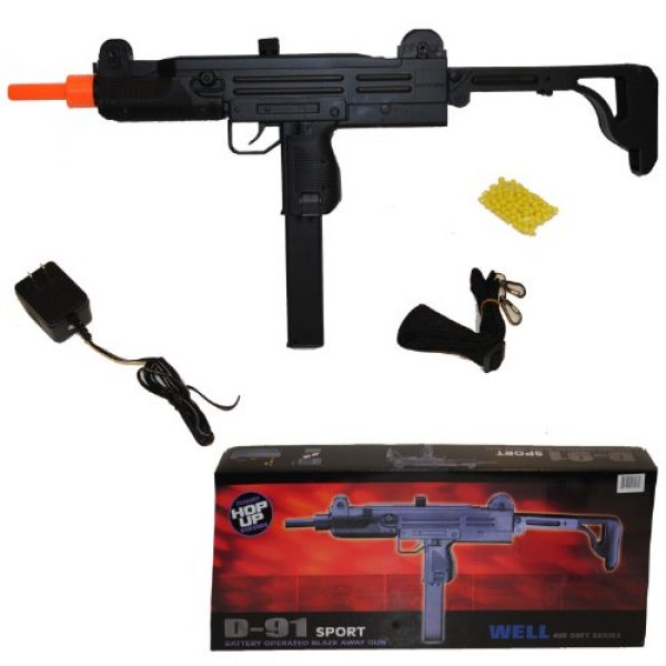 Well Airsoft Rifle 1 Well d91 uzi - aeg automatic electric airsoft gun + battery + charger(Airsoft Gun)