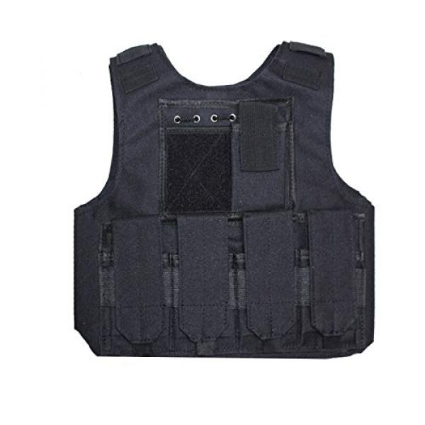 BGJ Airsoft Tactical Vest 2 Outdoor Airsoft Tactical Kids Children Vest Uniform Army Military Equipment Kids Boy Girl Camouflage Combat CS Hunting Clothes